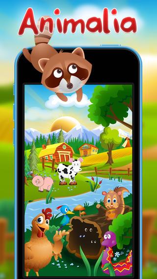 用Animalia学习法语 - 会和人互动、说话的动物 - 有趣的教育类游戏,适合孩子们玩,他们可以学习野生动物和农场动物的声音