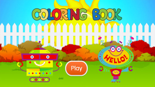 机器人图画书 - 绘画七彩虹为孩子们免费游戏