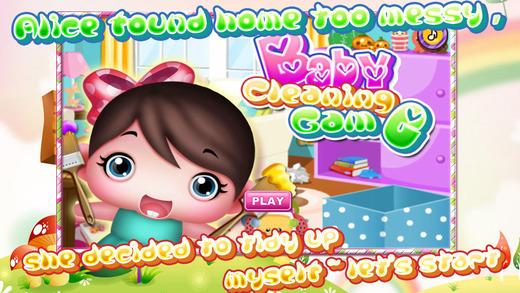 女孩游戏-小公主清洁房间