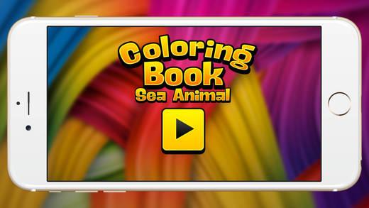 海动物图画书柔和的蜡笔海马和果冻鱼秀的孩子