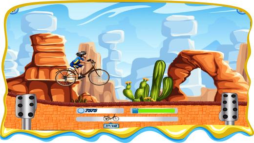 自行车赛车游戏的孩子