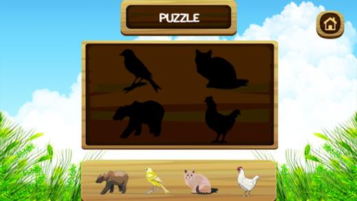 动物词汇的英语学习游戏为孩子们