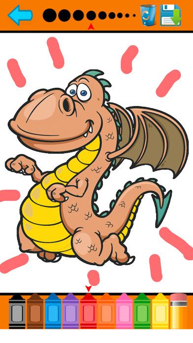 恐龙图画书 - 迪诺绘图页和绘画教育教学技能比赛对于儿童幼儿