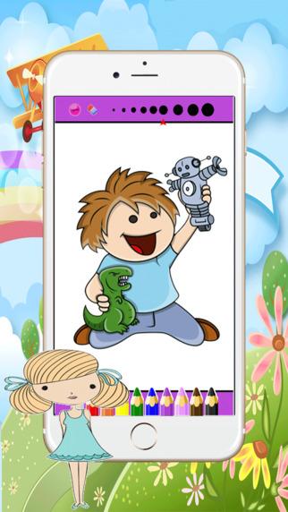 如何學 動畫片 着色 绘画 - 嬰兒遊戲