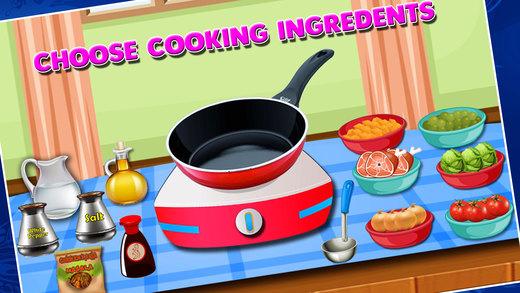 鸡karahi科尔马制造商 - 疯狂的烹饪狂热的游戏为孩子们