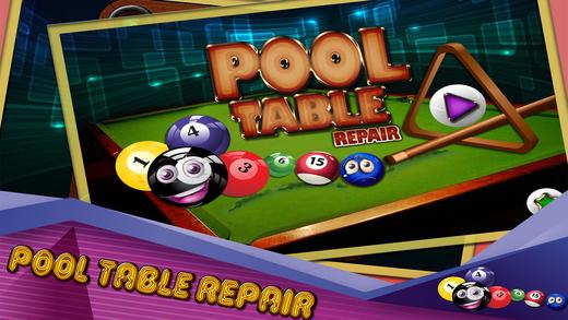 台球桌修复 - 8球斯诺克和台球游戏