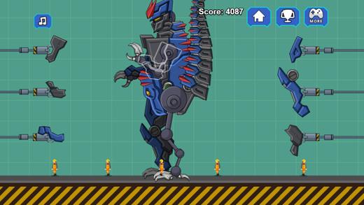 机器暴龙霸王龙的进攻