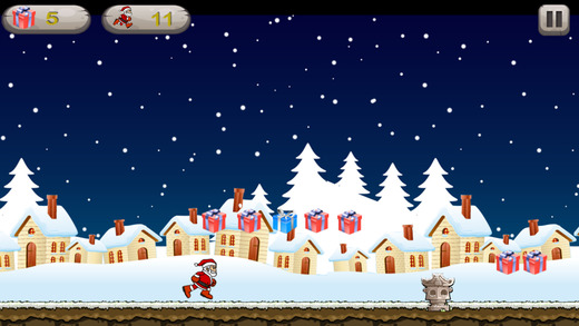 聖誕老人袋 - 遊戲運行在聖誕節收集的禮物