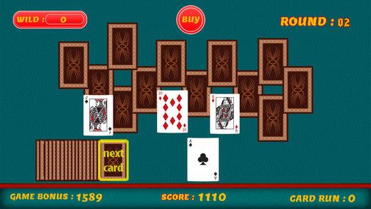三峰接龙 - 全甲板纸牌游戏
