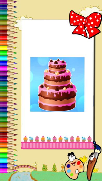 着色游戏 蛋糕制造商  蛋糕生日快乐 适合女生游戏