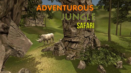 野生犀牛猎人模拟器 - 追捕的动物在这片丛林射击模拟游戏