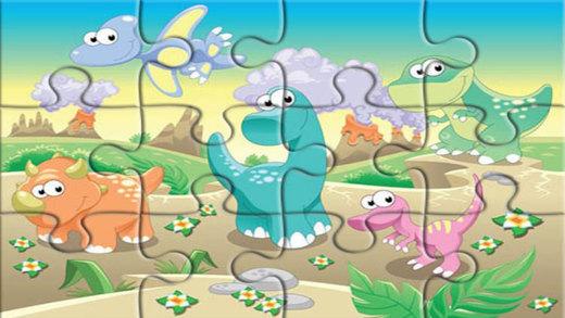 侏罗纪恐龙拼图游戏