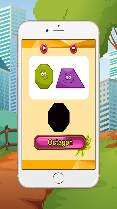 学习英语词汇:形状:为孩子们学习游戏 - 免费的!