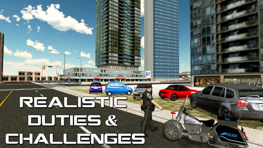 警察摩托车骑士 - 摩托车模拟器游戏