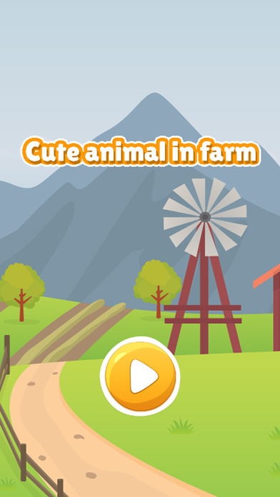 在农场图画书游戏的孩子可爱的动物