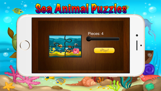绚丽的海底世界 : 海洋动物有趣的益智 (Ocean Animals Puzzle)