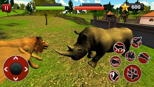 飞狮模拟器:愤怒的野生动物战斗