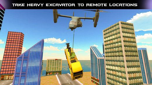 重型机械直升机运输