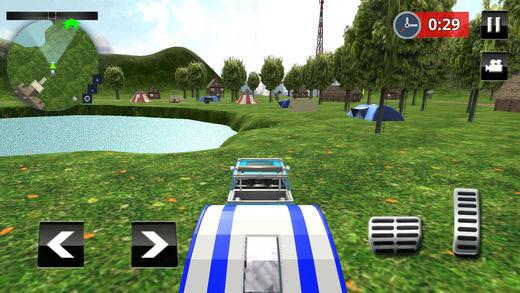 坎珀面包车卡车停车处汽车拖车模拟器