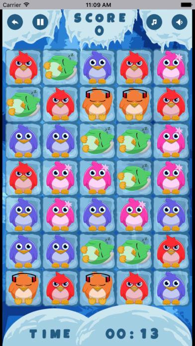 企鹅对对碰消除类桌面游戏