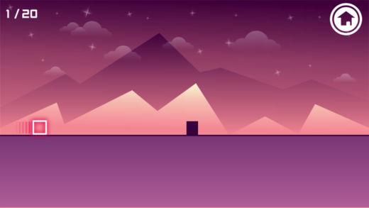 移动的粉色方块
