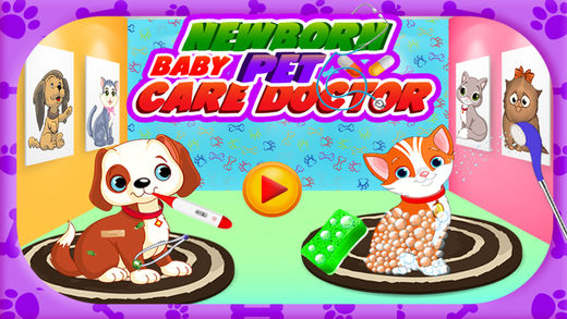 新生婴儿宠物护理医生