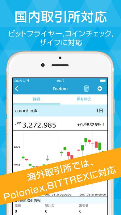 Cryptofolio(クリプトフォリオ)ビットコインの资産管理アプリ