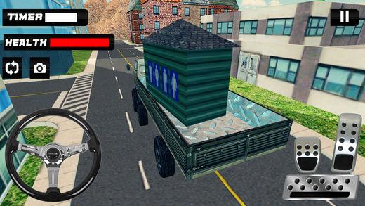 公共厕所运输卡车和货运模拟器