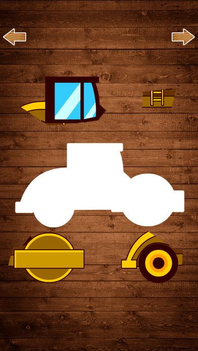 汽车拼图游戏