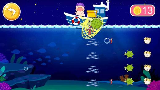 粉红小猪爱钓鱼-钓鱼游戏