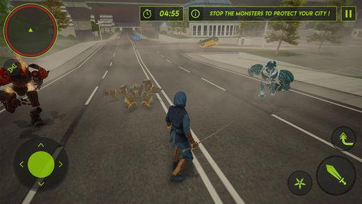 飞行忍者怪物刺客:城市救援战