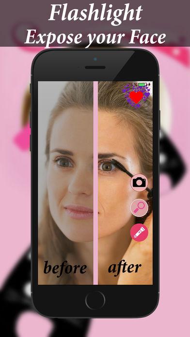镜子化妆风格工作室:自拍相机