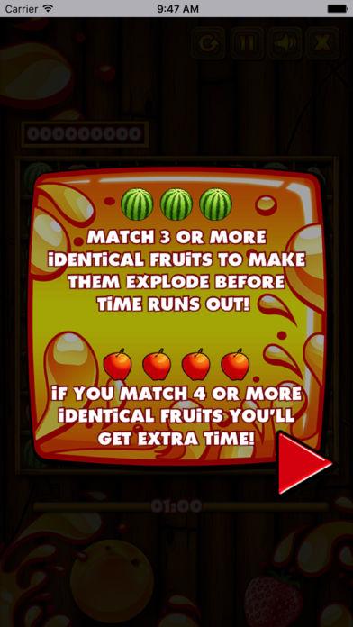 新鲜的水果对对碰
