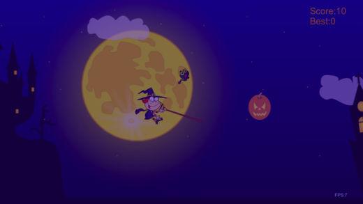 飞行的万圣巫女-躲避危险的敏捷小游戏