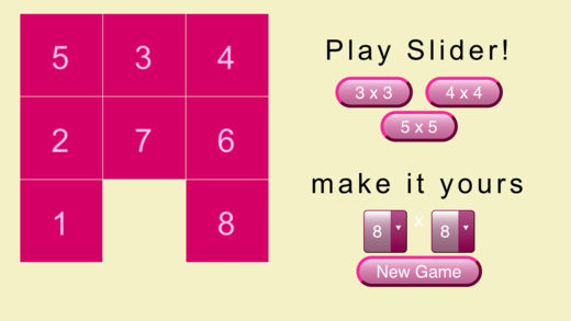 数字块滑动拼图