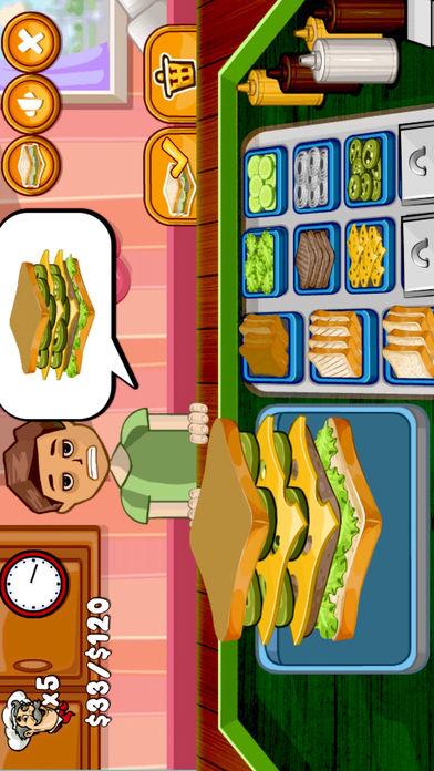 模拟经营三明治烘烤快餐店