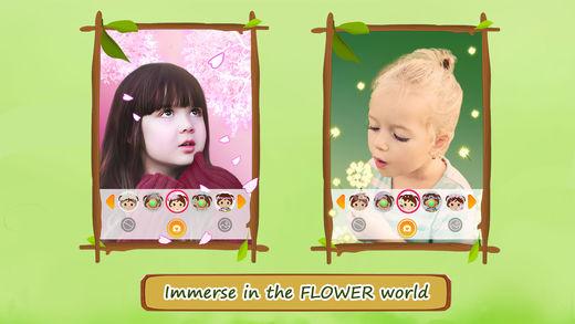 花朵时尚自拍
