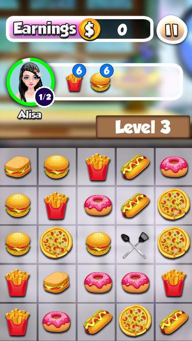 疯狂烹饪厨师厨房:3匹配游戏