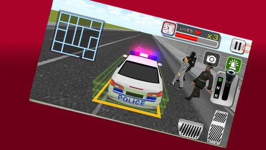 警察警报灯和灯光