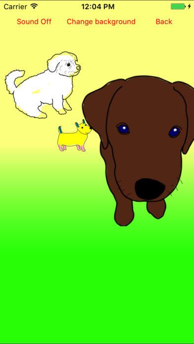 小狗 移动填色画(着色画)
