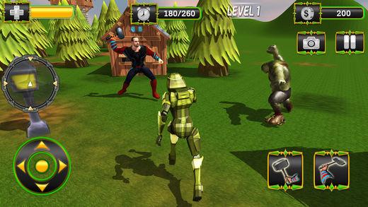 锤子 英雄 复仇者 战斗