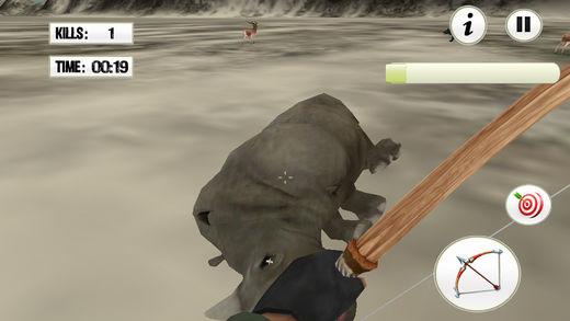 真正的动物射箭惊人的猎人