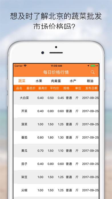 北京每日菜价