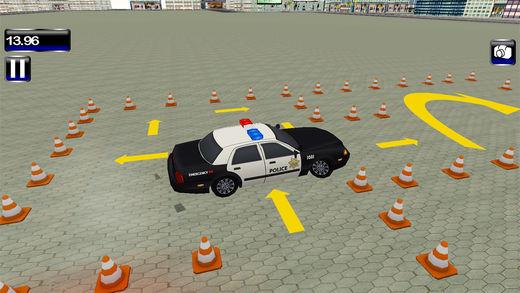 公路警车停车车3D
