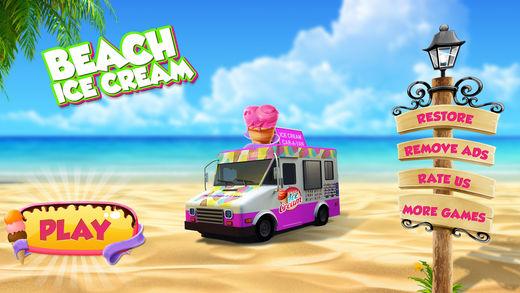 海滩 冰 奶油 卡车 交货