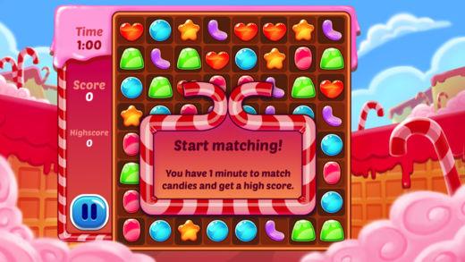 消除糖果大冲击-好玩的对对碰小游戏