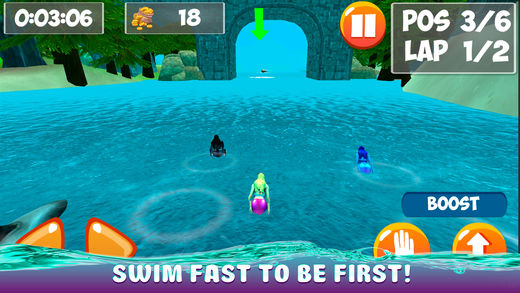 美人鱼水下游泳赛