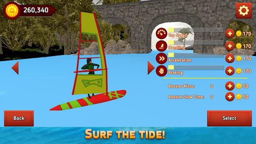 风帆冲浪夏季水上运动