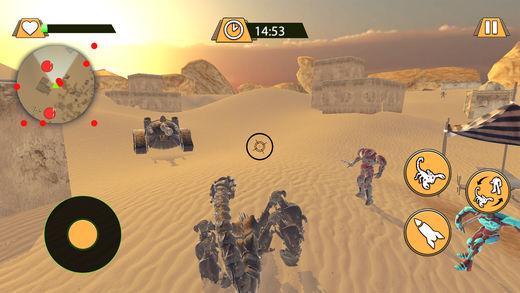 蝎子机器人沙漠战斗