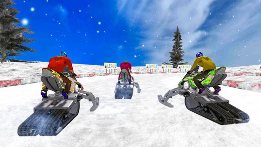 摩托车越野赛 雪 比赛